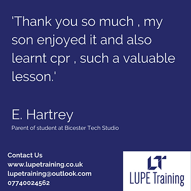 LUPE Training First Aid Feedback