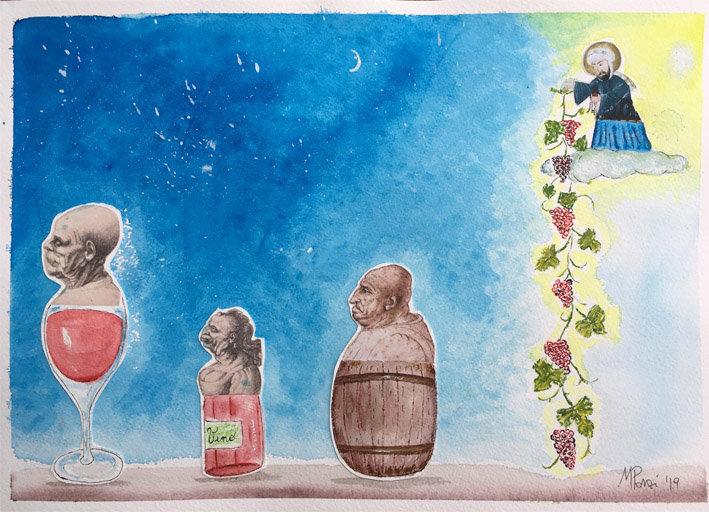 Leggenda del vino e di Maometto per sito