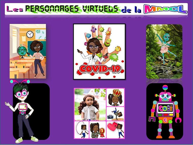 Les personnages virtuels - Activites - M