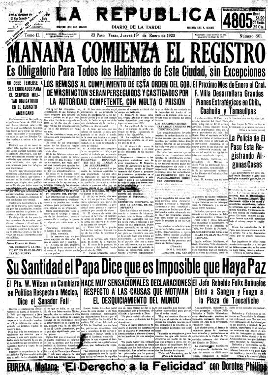 La República. enero 1, 1920