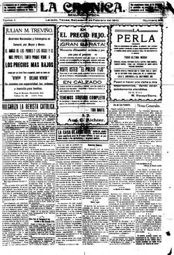 La Cronica. febrero 12, 1910