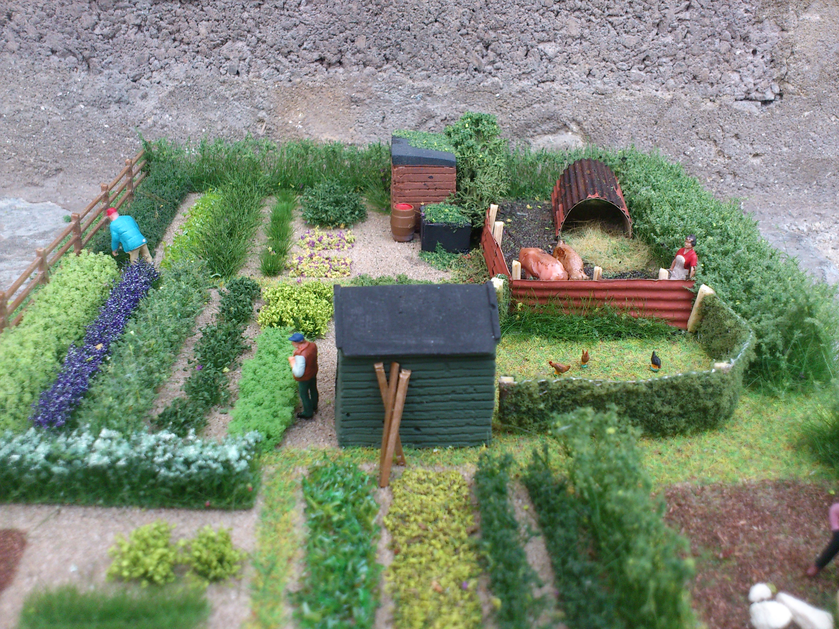 OO/HO Allotment Diorama