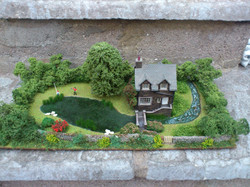 OO/HO River House Diorama