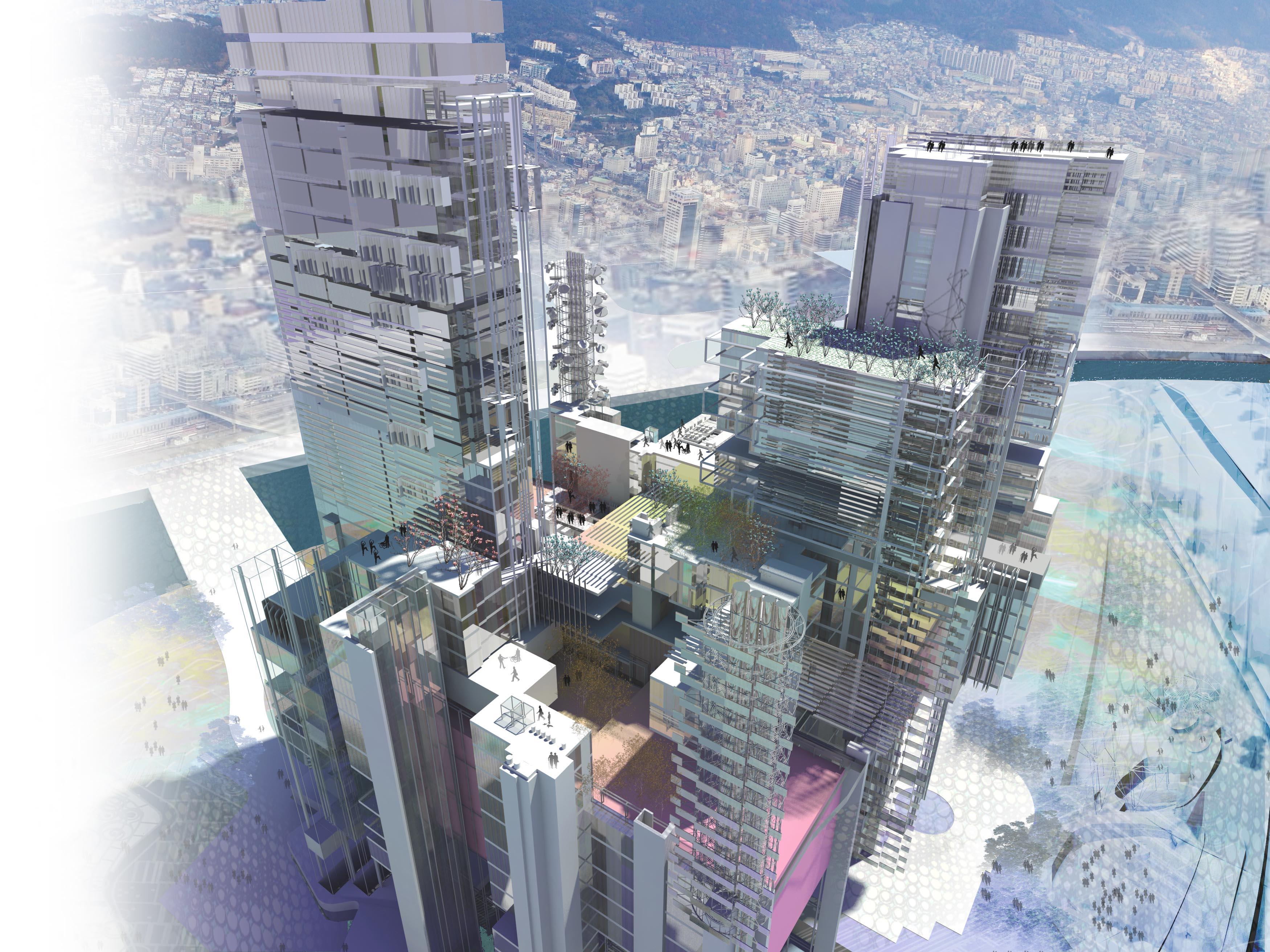 edificio multiusos en Busán