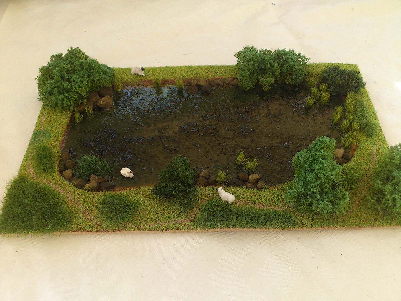 Lake diorama using our scenery products