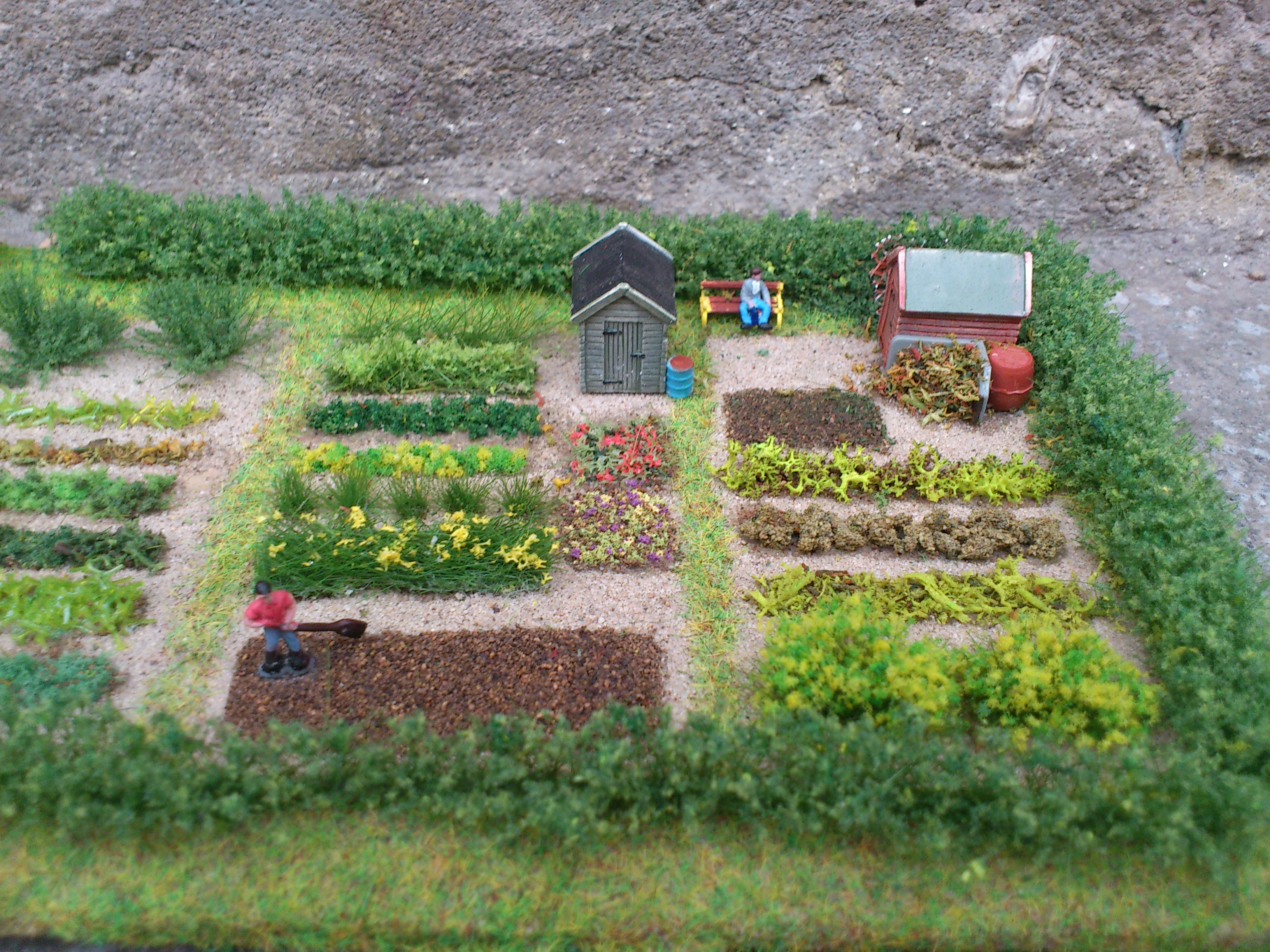 N Gauge Allotment Diorama