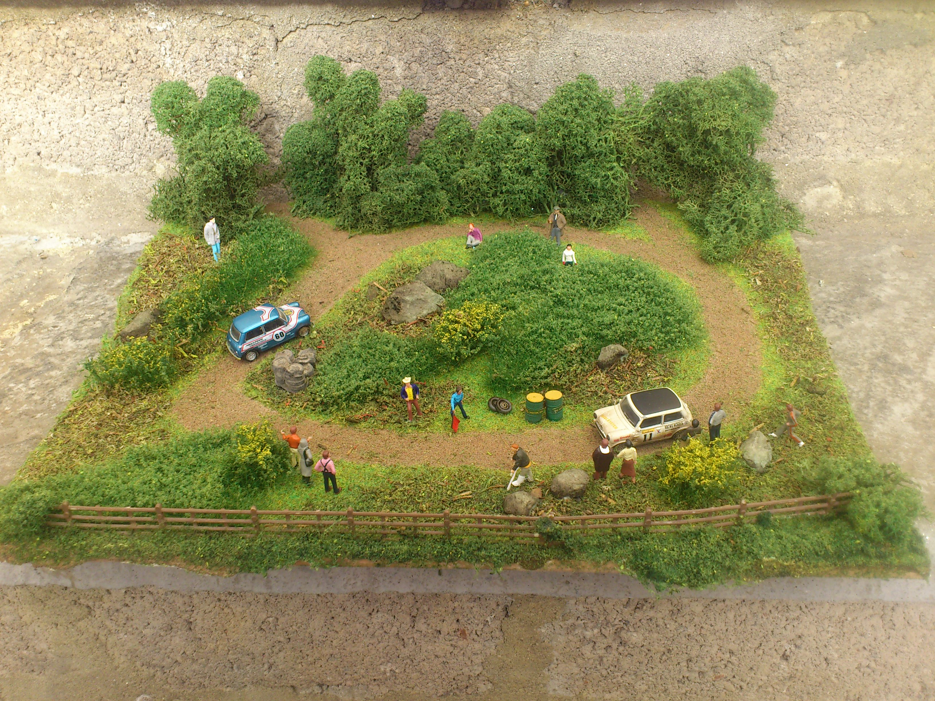 OO/HO Rally Track Diorama