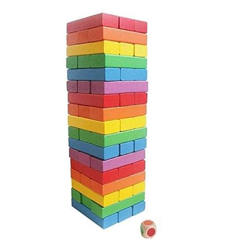 Wooden colour blocks- Jenga game