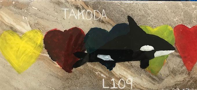 L109 Takoda born to L55 (Nugget), her third calf, winter or spring, 2007