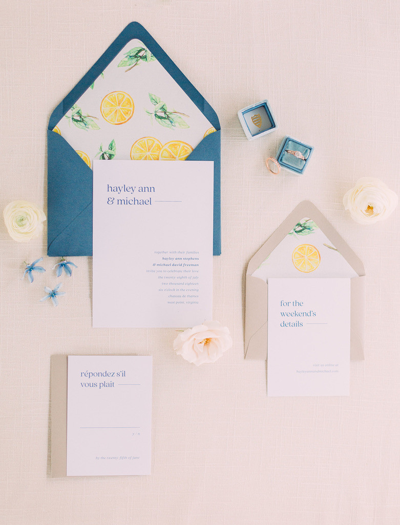 Invitation Suite by Kristen Camille Photography