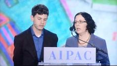 אור אברהמס וחן קוטלר אברהמס, מייצגים את עוטף עזה בוועידה השנתית של אייפק בוושינגטון, 2013.