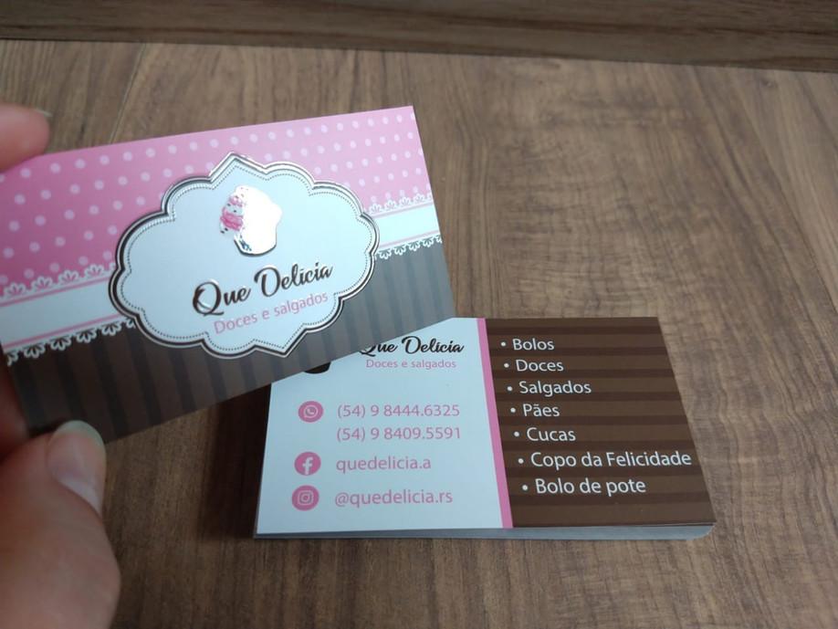 Cartão visita 4x4 cores