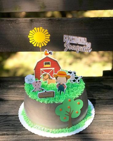 Topo de bolo personalizado Fazendinha