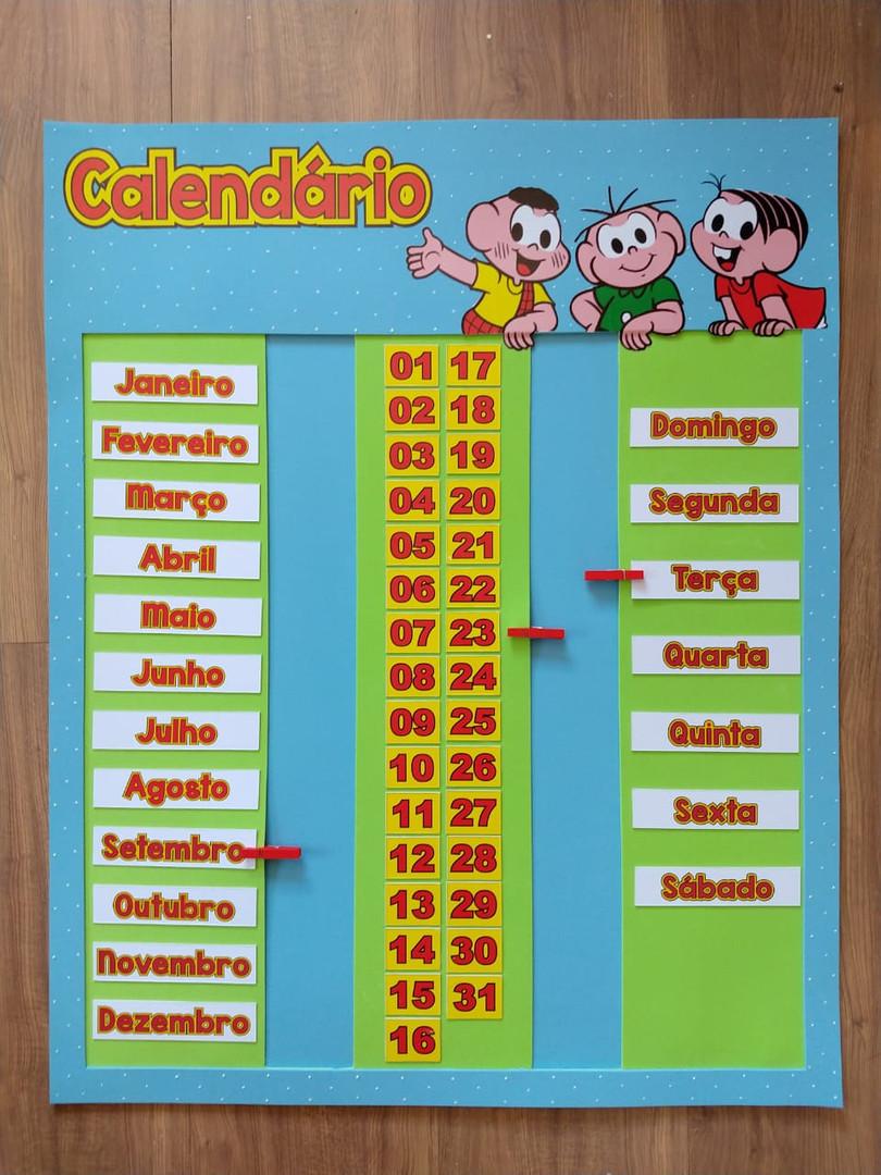 Calendário vertical