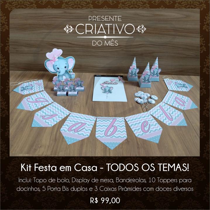 Kit Festa em Casa Elefantinha