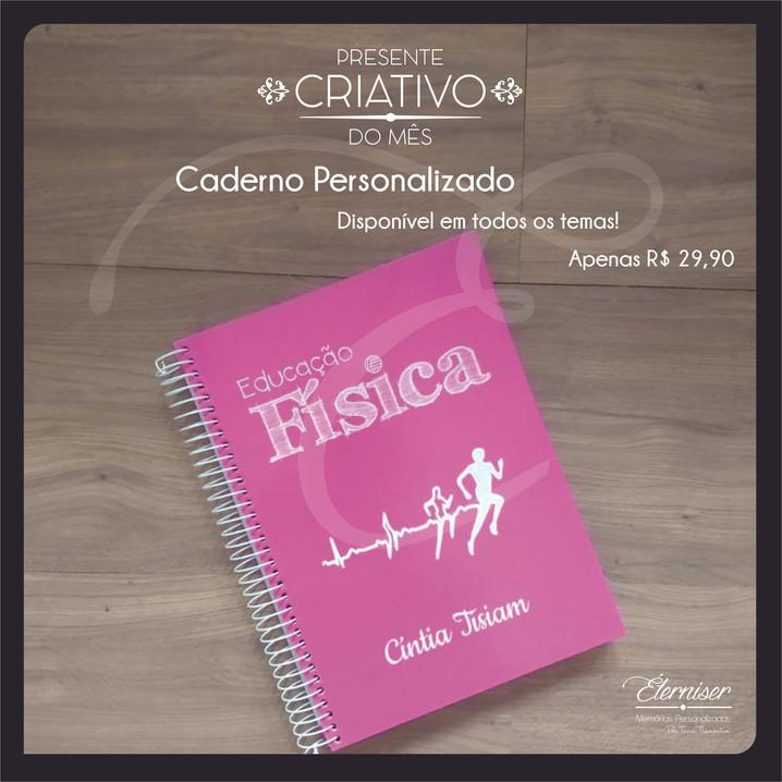 Caderno personalizado Educação Física
