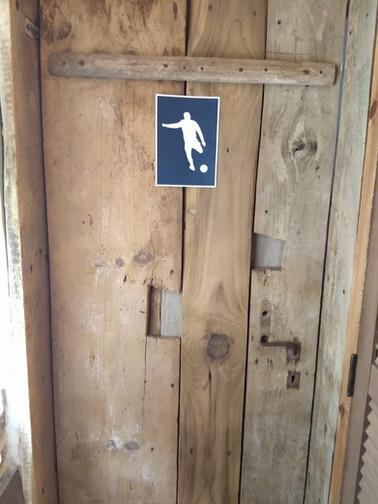 Placa para banheiro masculino