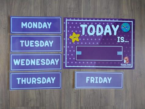 """Quadro interativo """"Today is..."""""""