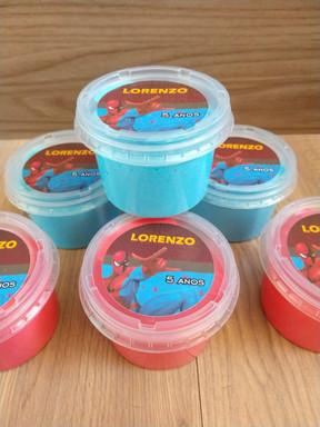 Slime com embalagem personalizada