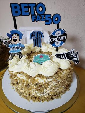 Topo de bolo do Grêmio personalizado