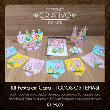 Kit Festa em Casa Corujinhas