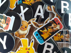 Toppers Pokémon Nintendo Switch para docinhos