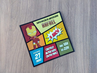 Convite personalizado Homem de Ferro