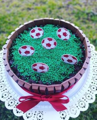 Topo de bolo futebol
