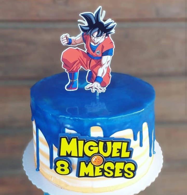 Topo de bolo Goku
