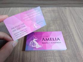 Cartão visita com UV localizado