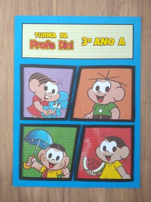 Cartaz de Porta Turma da Mônica