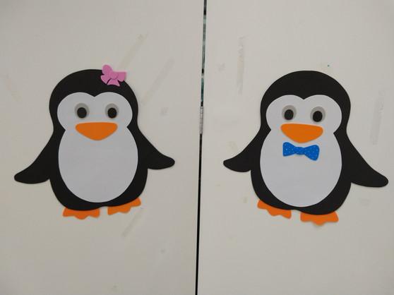 Pinguins decorativos para parede
