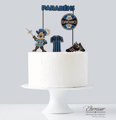 Topo de bolo Grêmio Parabéns
