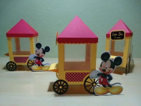 Mini carrinho de pipoca