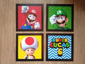 Quadros decorativos Super Mario
