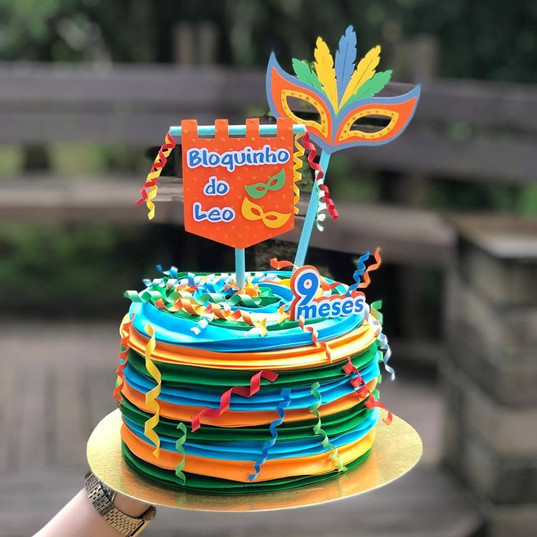 Topo de bolo Carnaval