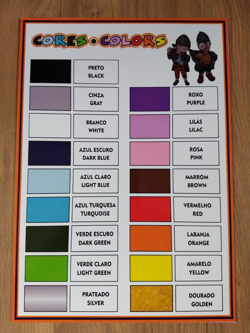 Cartaz cores/colors