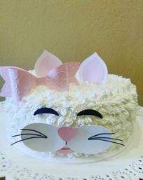 Topo de bolo gatinha