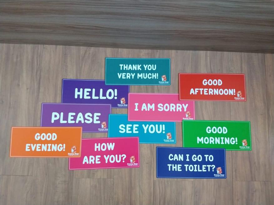 Frases em inglês para parede