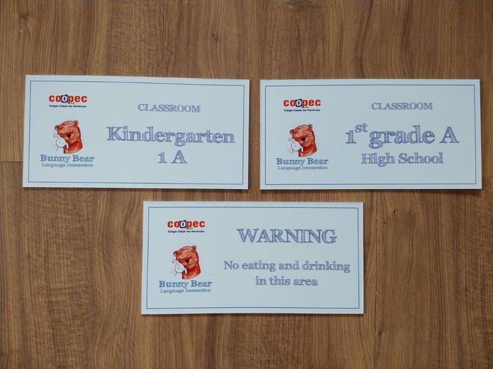 Placas para porta em P.S.