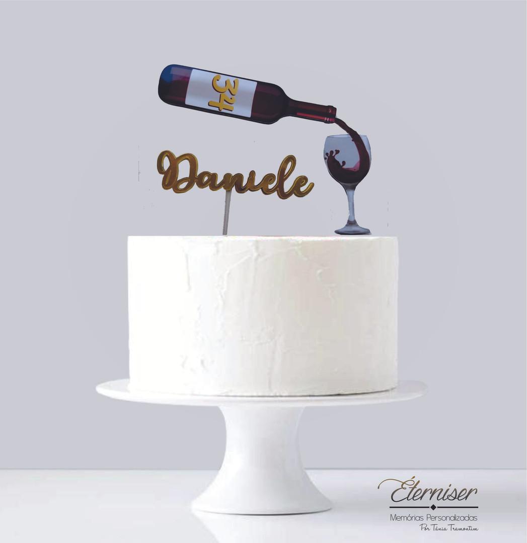 Topo de bolo vinho