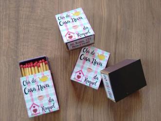 Convite Chá de Casa Nova caixinha de fósforo
