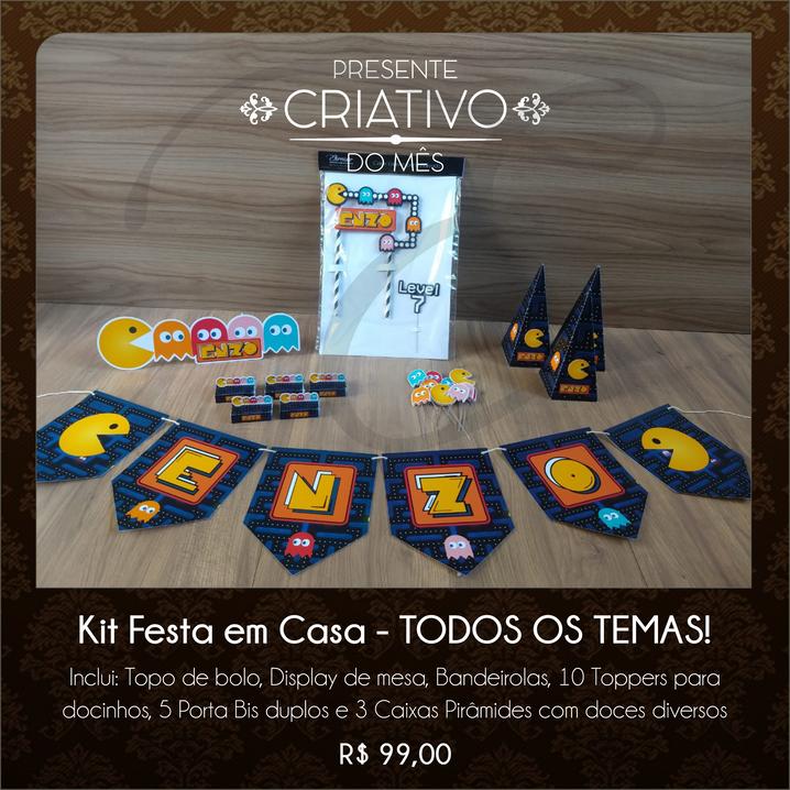 Kit Festa em Casa Pacman