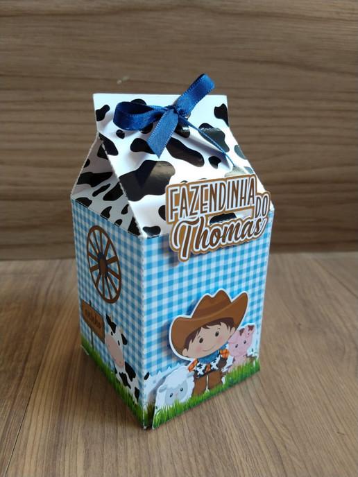 Caixa milk Fazendinha