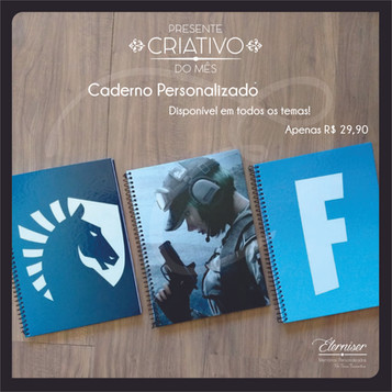 Cadernos personalizados 96 folhas