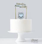 Topo de bolo lamicote dourado