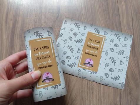 Rótulo para barra de chocolate
