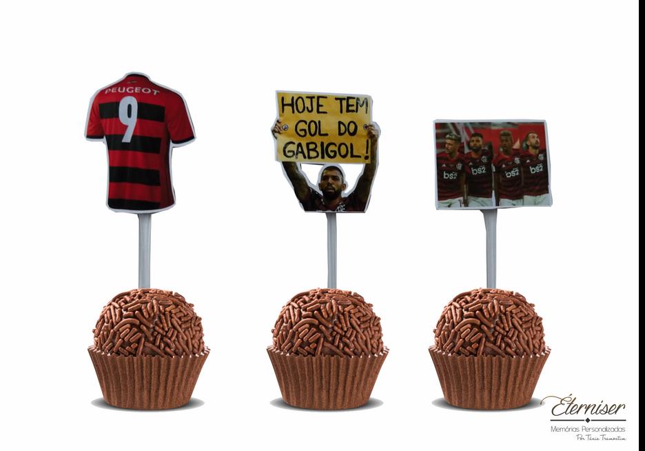 Toppers para docinhos Flamengo
