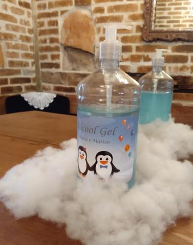Rótulo personalizado para álcool gel