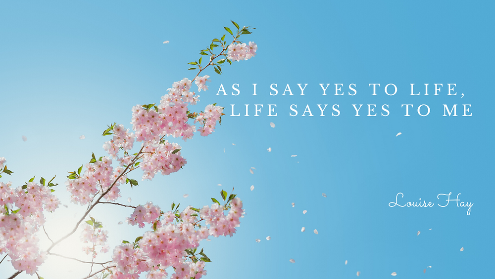 Say Yes to life quote